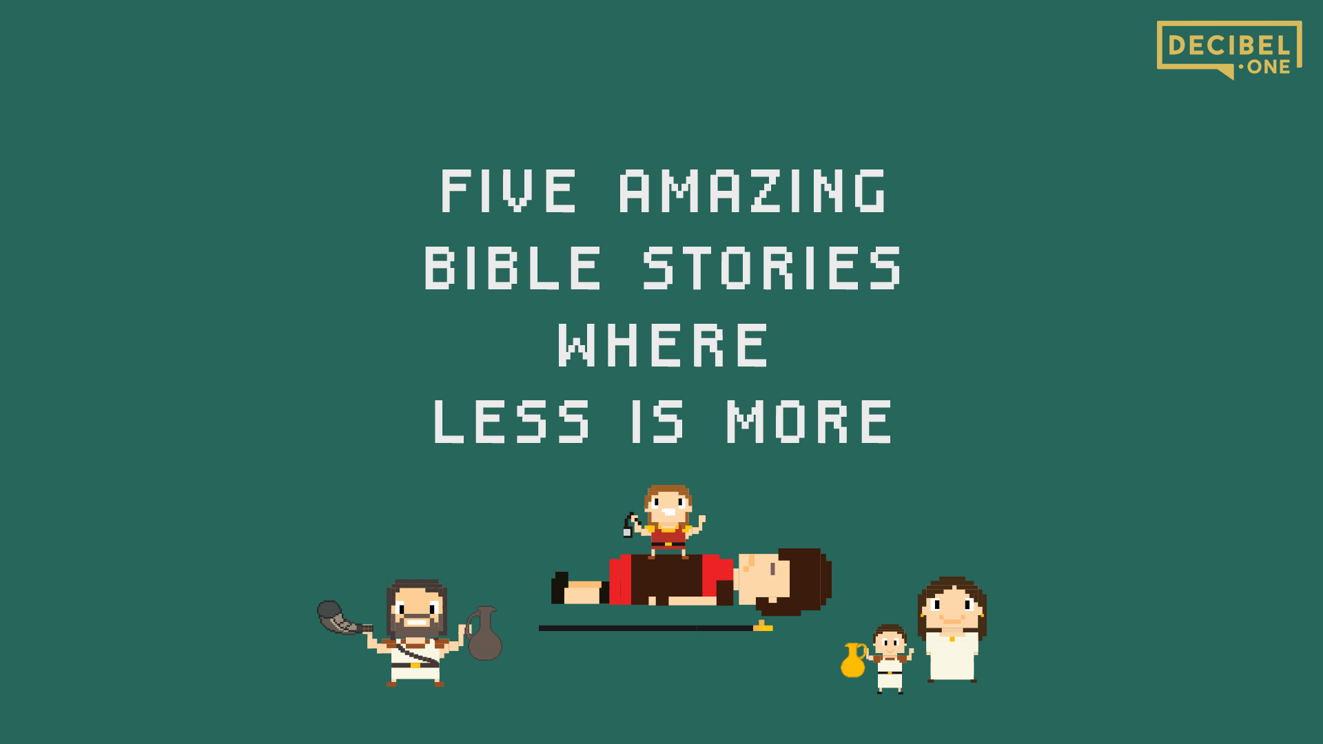 5 amazing Bible stories where less is more